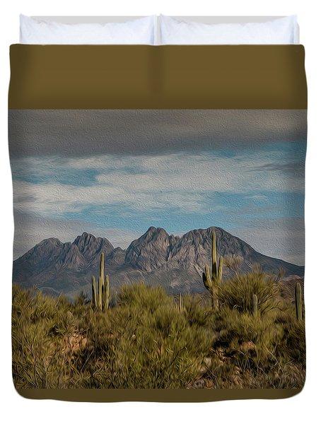 Four Peaks Painterly Duvet Cover