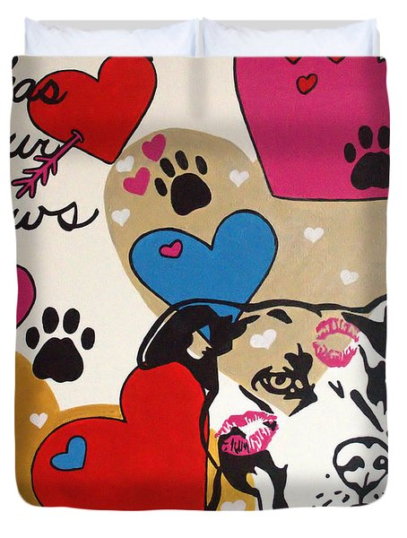 Four Pitty Paws Duvet Cover