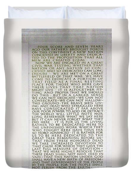 Four Score And Seven Years...... Duvet Cover
