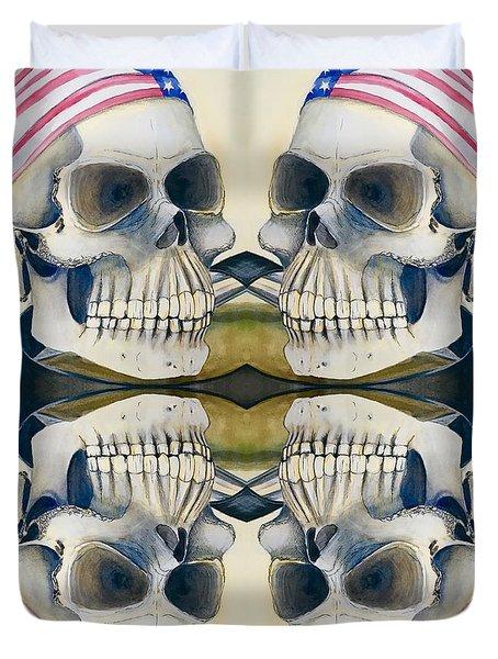Four Skulls Duvet Cover