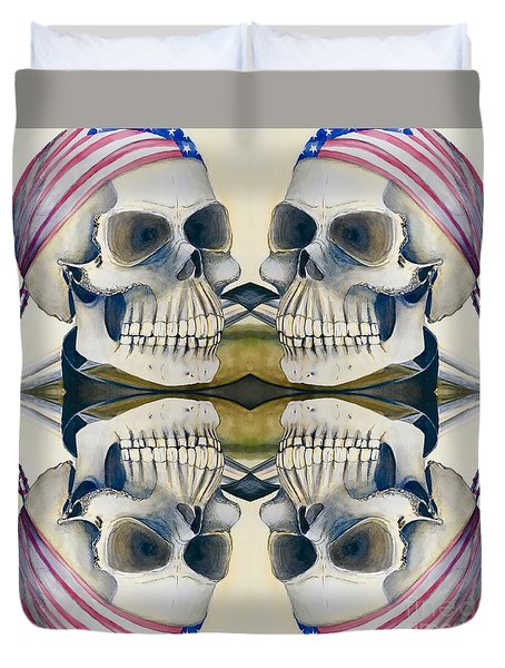 Four Skulls Duvet Cover