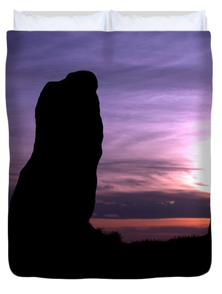 Four Stones Folly Clent Hills Duvet Cover