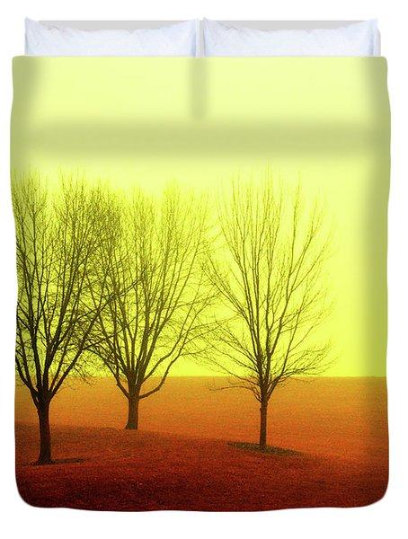 Four Trees Duvet Cover