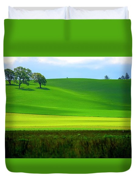 Four Trees On Livermore Road Duvet Cover