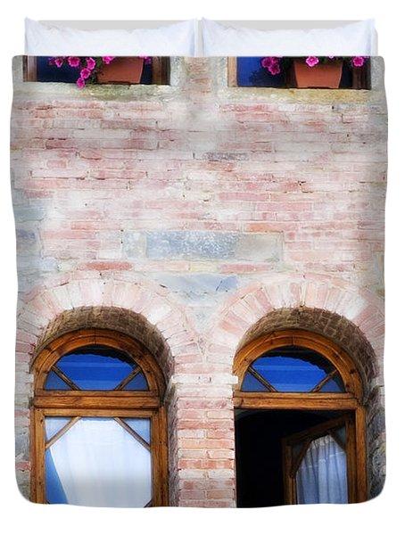 Four Windows Duvet Cover by Marilyn Hunt