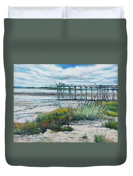 I'le Madame Fouras La Rochelle France 2016 Duvet Cover by Enver Larney