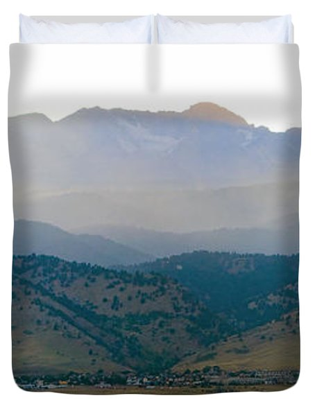 Fourmile Canyon Wildfire Front Range Wind View 09-09-10 Panorama Duvet Cover by James BO  Insogna