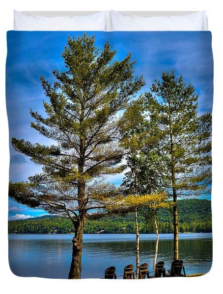 Fourth Lake At The Woods Inn Duvet Cover