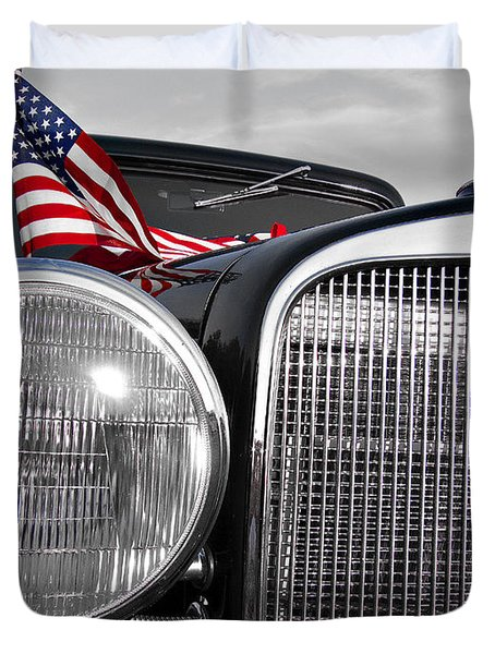 Fourth Of July-chevvy  Duvet Cover by Douglas Barnard