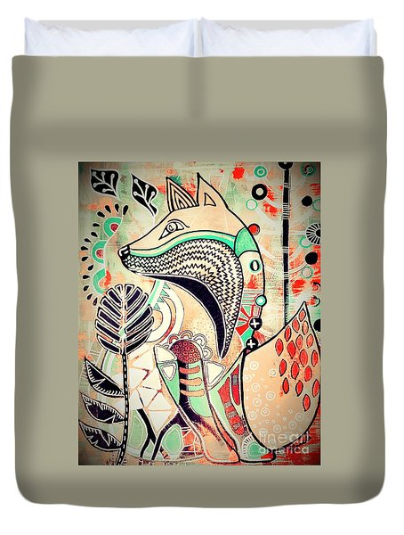 Fox 2 Duvet Cover by Amy Sorrell
