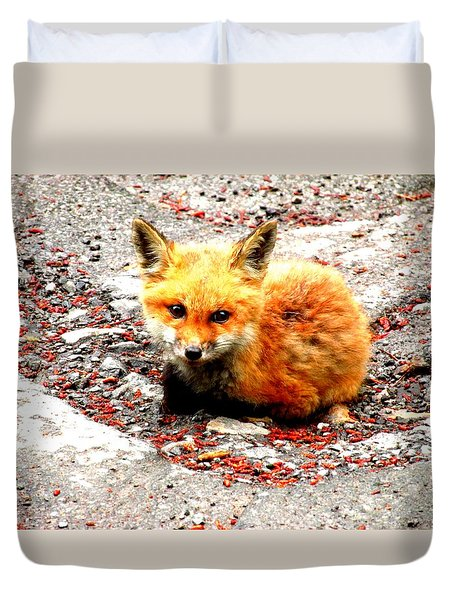 Fox Duvet Cover by Amy Sorrell