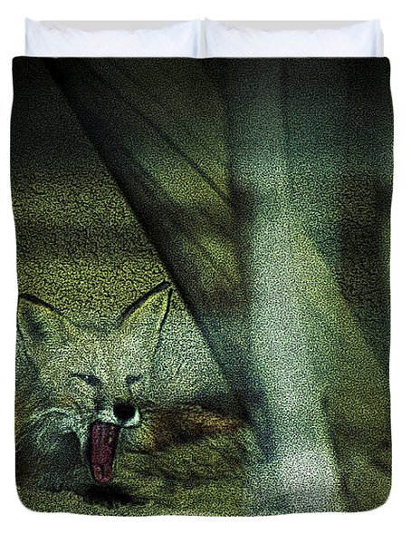 Fox Cry Duvet Cover