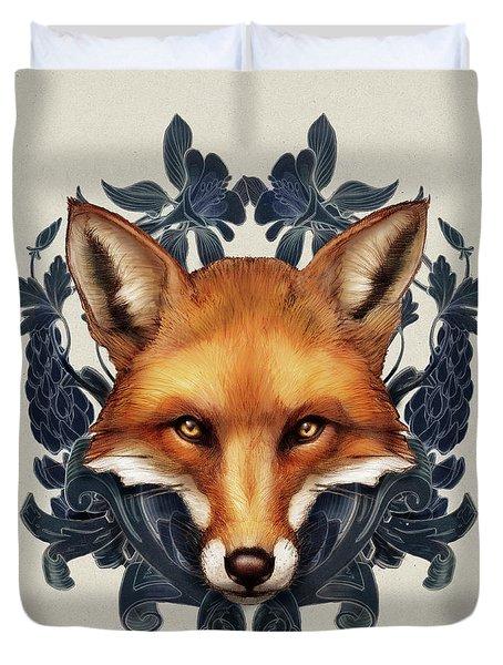 Fox Embellished Duvet Cover