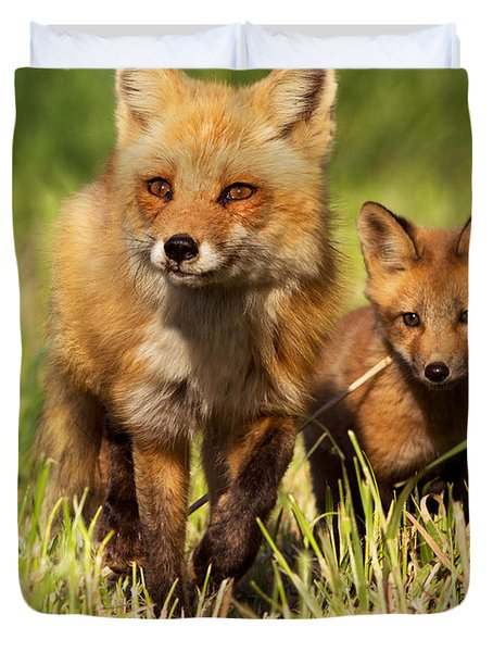 Fox Family Duvet Cover