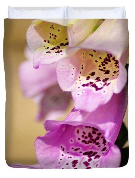 Fox Gloves Duvet Cover by Bill Cannon