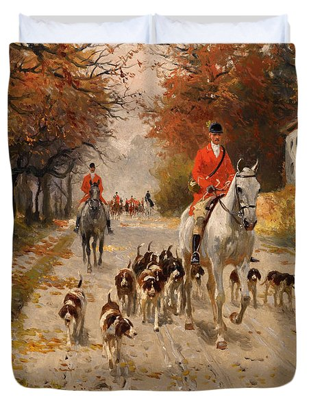 Fox Hunt Duvet Cover