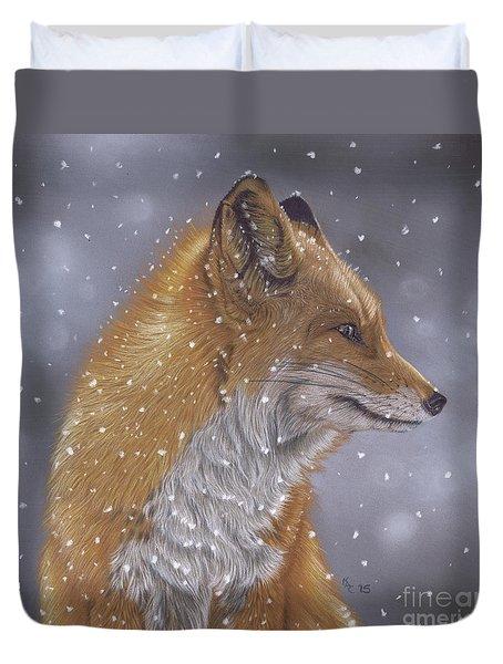 Fox In A Flurry Duvet Cover