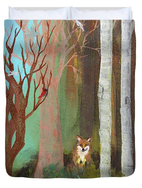 Fox In The Forest  Duvet Cover