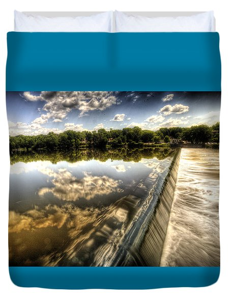 Fox River At The Geneva Dam Duvet Cover