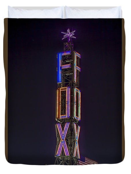 Duvet Cover featuring the photograph Fox Theatre Detroit by Nicholas  Grunas
