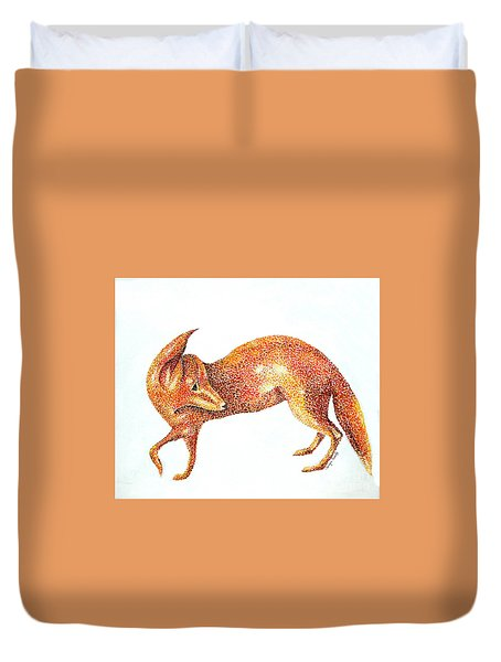Fox Trot Duvet Cover by Tamyra Crossley