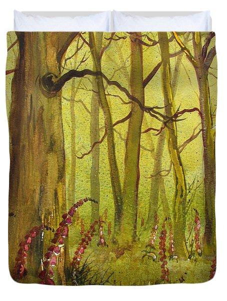 Foxgloves In Fairy Call Beck Duvet Cover