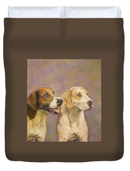 Foxhound Pals Duvet Cover by Richard James Digance