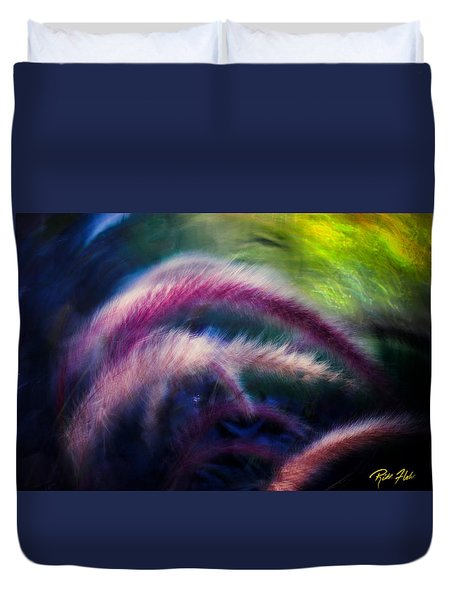 Foxtails In Shadows Duvet Cover