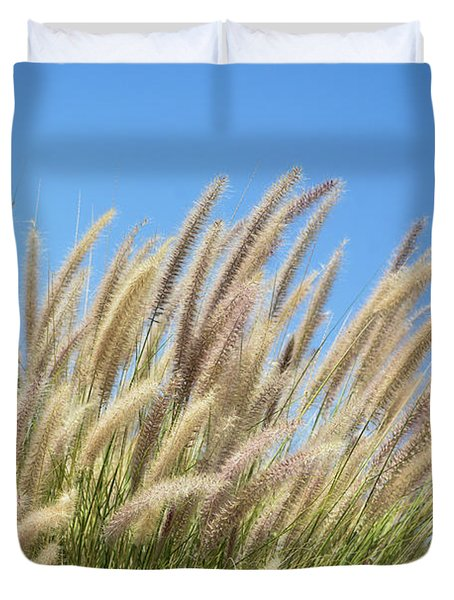 Foxtails On A Hill Duvet Cover
