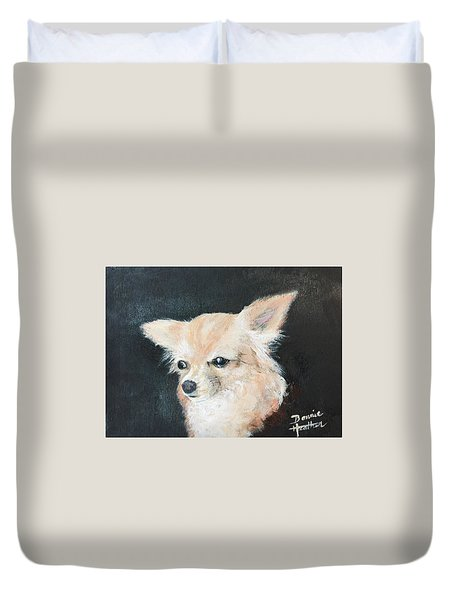 Foxy Lady  Duvet Cover by Bonnie Heather