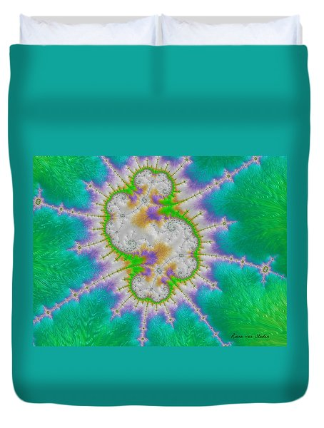 Duvet Cover featuring the digital art Fractal 1 by Riana Van Staden
