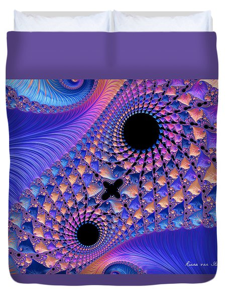 Duvet Cover featuring the digital art Fractal 2 by Riana Van Staden