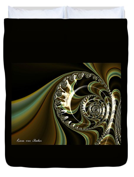 Duvet Cover featuring the digital art Fractal 4 by Riana Van Staden
