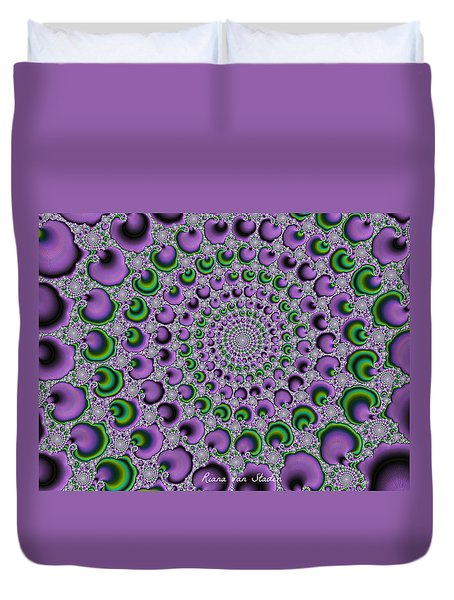 Duvet Cover featuring the digital art Fractal 8 by Riana Van Staden
