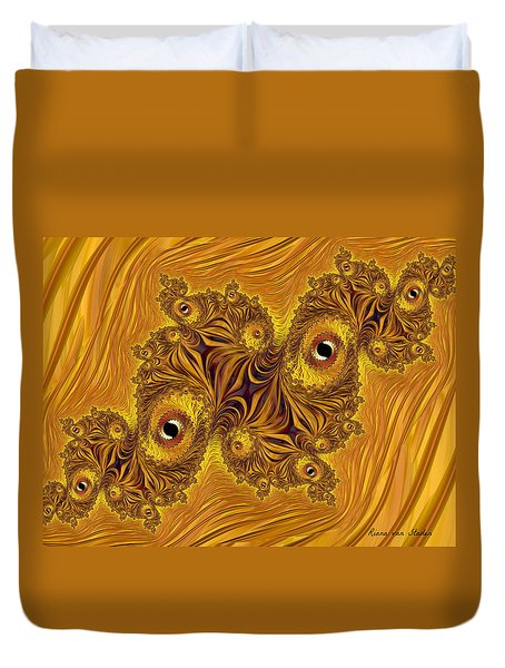 Duvet Cover featuring the digital art Fractal 9 by Riana Van Staden