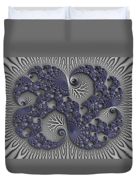 Fractal Biome Duvet Cover by Manny Lorenzo