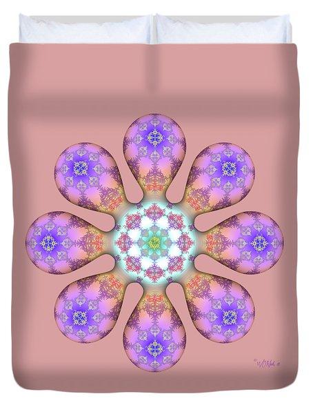 Fractal Blossom 2 Duvet Cover