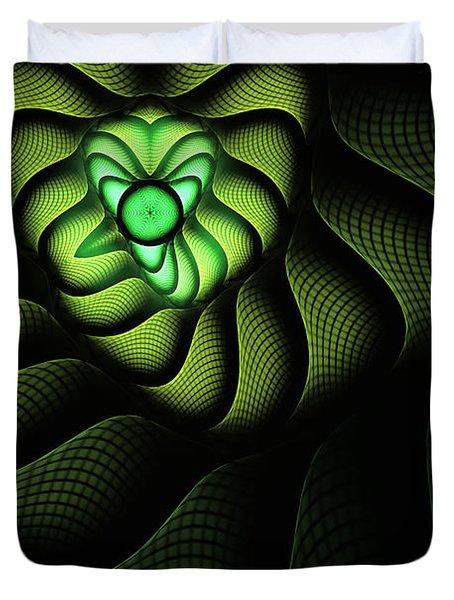 Fractal Cobra Duvet Cover by John Edwards