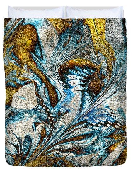 Duvet Cover featuring the digital art Fractal Design by Klara Acel