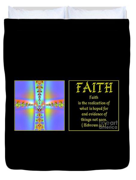 Fractal Faith Hebrews 11 Duvet Cover