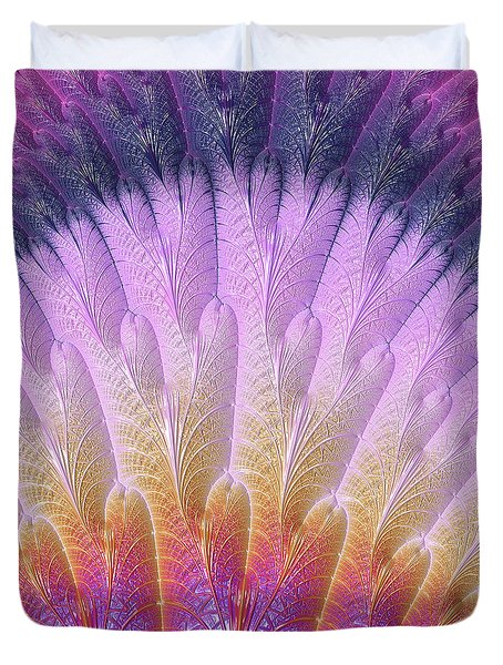 Fractal Feather Fan Duvet Cover
