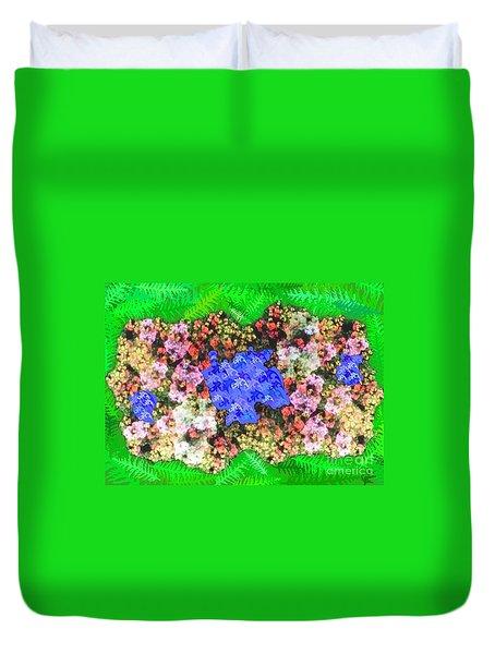Fractal Flower Garden Duvet Cover by Diamante Lavendar