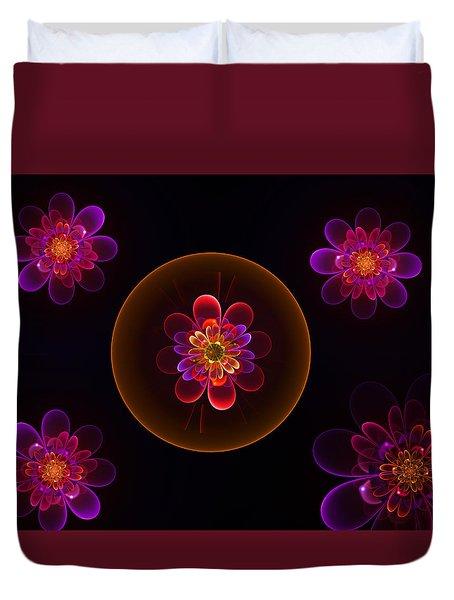Fractal Flowers Duvet Cover