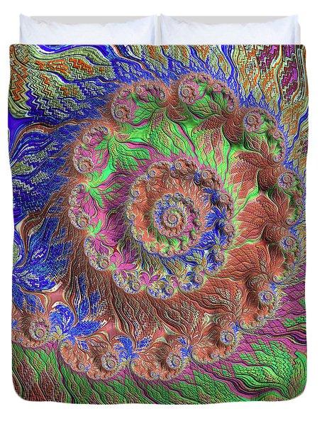 Duvet Cover featuring the digital art Fractal Garden by Bonnie Bruno