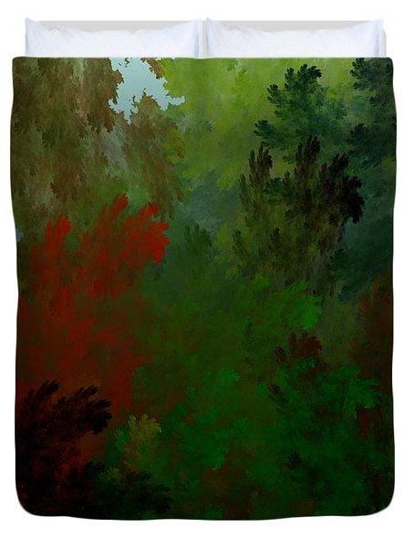 Fractal Landscape 11-21-09 Duvet Cover by David Lane
