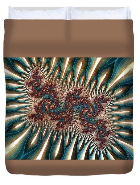 Fractal Landscape V Duvet Cover by Manny Lorenzo