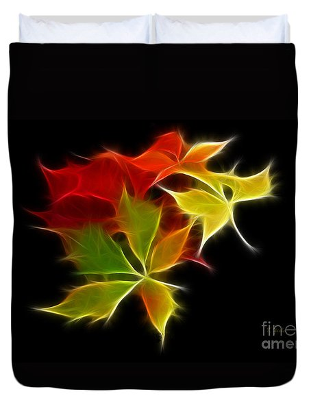 Fractal Leaves Duvet Cover