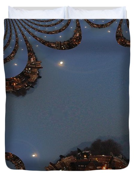 Fractal Moon Duvet Cover by Tim Allen