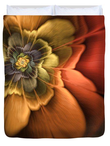 Fractal Pansy Duvet Cover by John Edwards