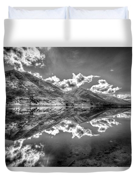 Fractal Reflections Duvet Cover by Don Mennig